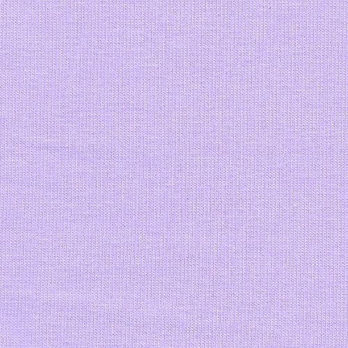 Solid Lilac Purple 4 Way Stretch 10 oz Cotton Lycra Jersey Knit Fabric, 1 Yard