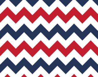 Red White and Blue Patriotic Medium Chevron Cotton for Riley Blake, 1 Yard