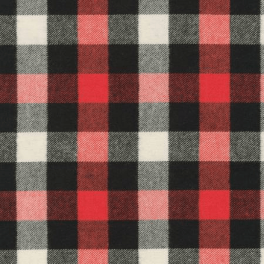 Red Black And White Plaid Tahoe Flannel By Robert Kaufman