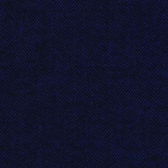Navy Blue and Black Redwood Herringbone Robert Kaufman Shetland Flannel, 1 Yard