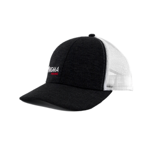 Enigma Gray and Red Snapback Hat