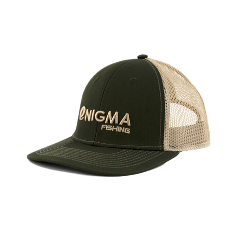 Enigma Tan and Green Snapback Hat