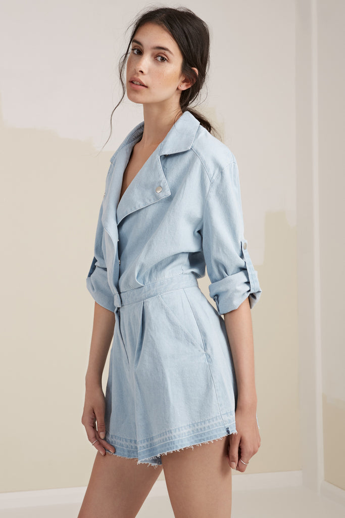 THE MOTEL PLAYSUIT washed denim