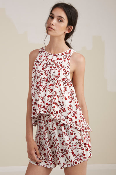 THE RHYTHM PLAYSUIT light jasmine print