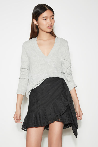 FREE FALL LONG SLEEVE TOP grey marle