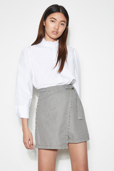 GREENWOOD STRIPE SKIRT sage w ivory