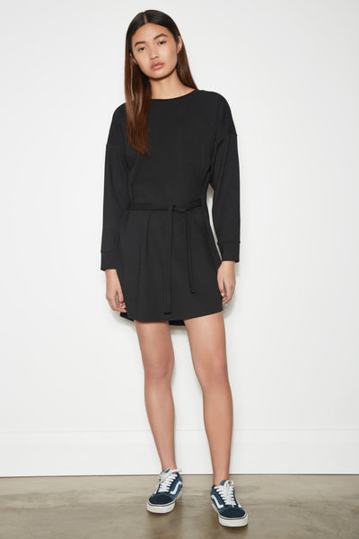 HIDEOUT LONG SLEEVE DRESS black