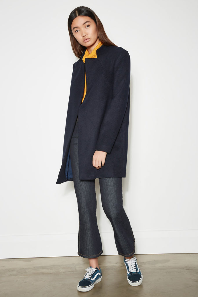 OUTLOOK COAT navy