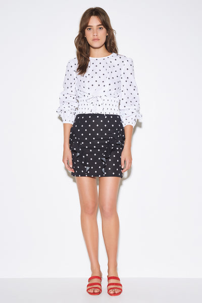 FIESTA SKIRT black w white daisy