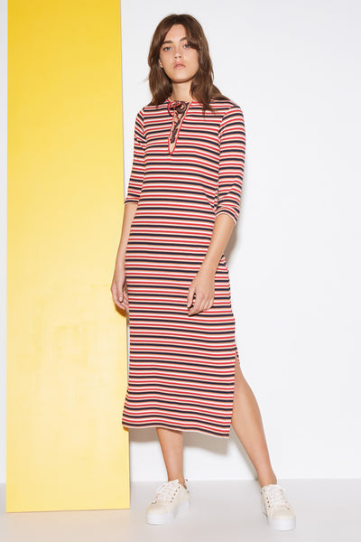 PARADE STRIPE MIDI DRESS multicoloured