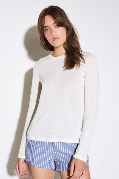 GUEST LONG SLEEVE TOP ivory