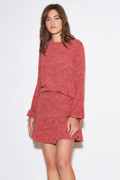 LILY LONG SLEEVE TOP red marle