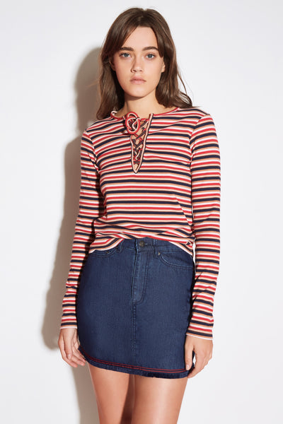PARADE STRIPE LONG SLEEVE TOP multicoloured