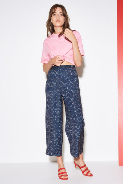 ROOFTOP POLKA DOT PANT navy w white