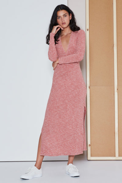COAST GUARD MIDI DRESS raspberry marle