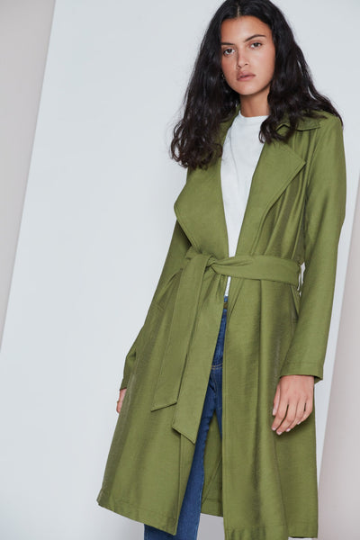 CREW TRENCH COAT khaki
