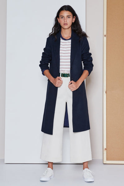 RADIO WAVE COAT navy
