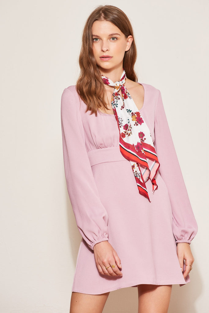 CIRCUIT LONG SLEEVE DRESS lilac