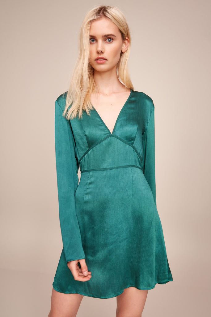ESTELLA LONG SLEEVE DRESS emerald