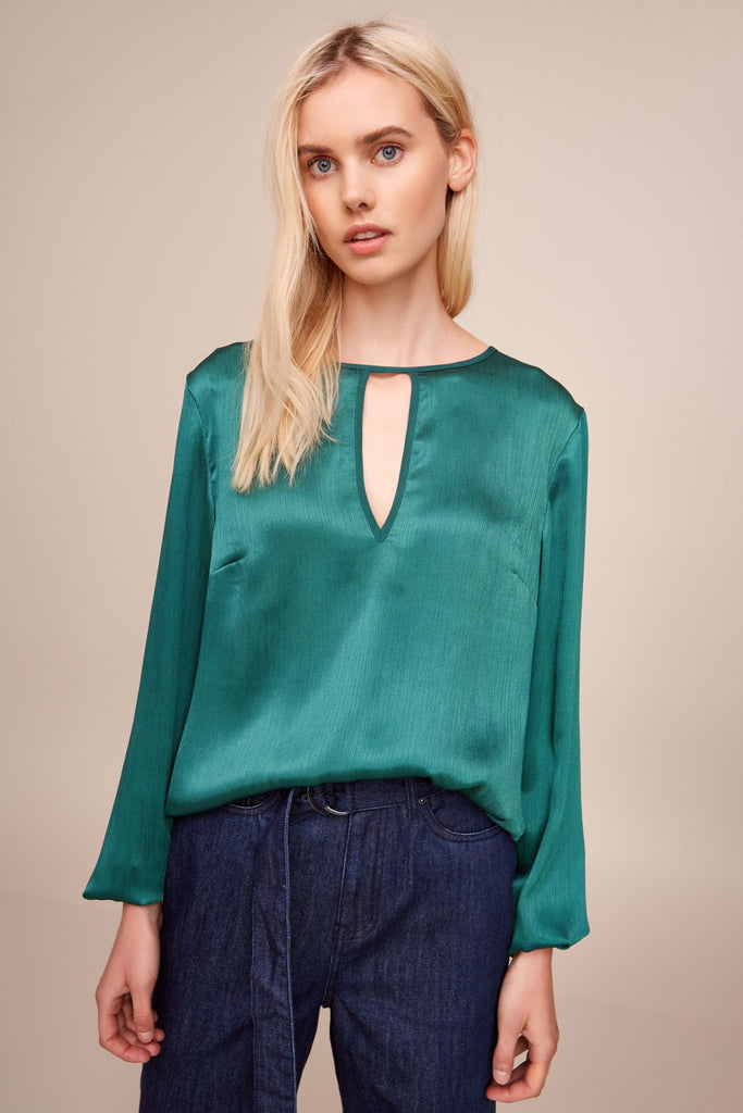 ESTELLA LONG SLEEVE TOP emerald