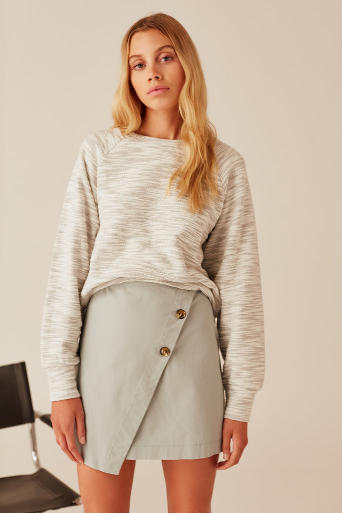 TIMEZONE LONG SLEEVE TOP grey marle