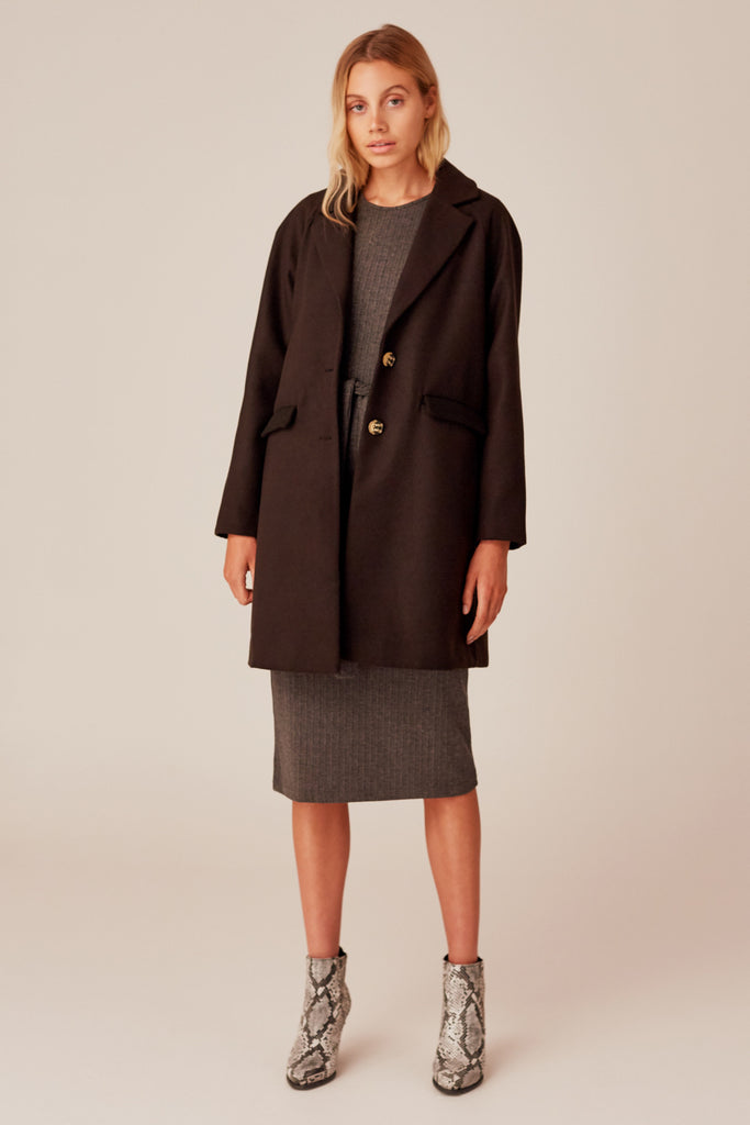 RHYTHMICITY COAT black