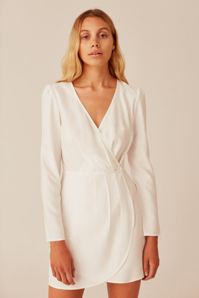 MINUTE LONG SLEEVE DRESS white