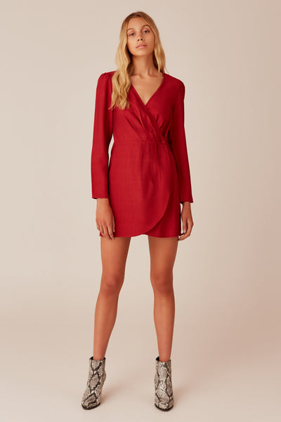 MINUTE LONG SLEEVE DRESS berry