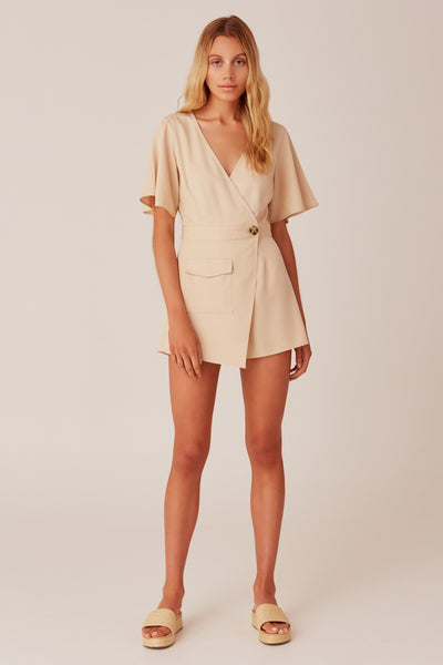 PASTIME PLAYSUIT sand