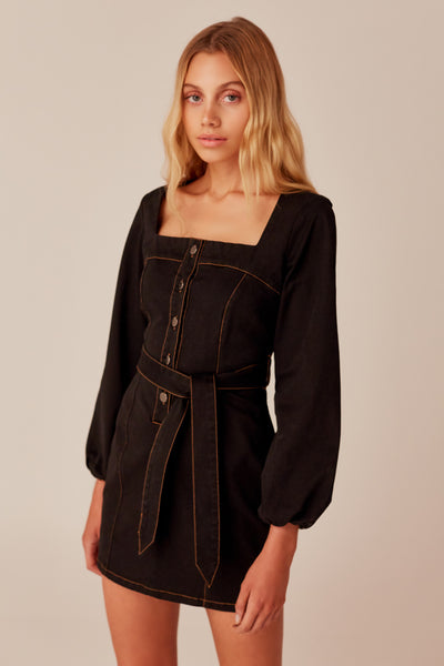 INSTANCE LONG SLEEVE DRESS black