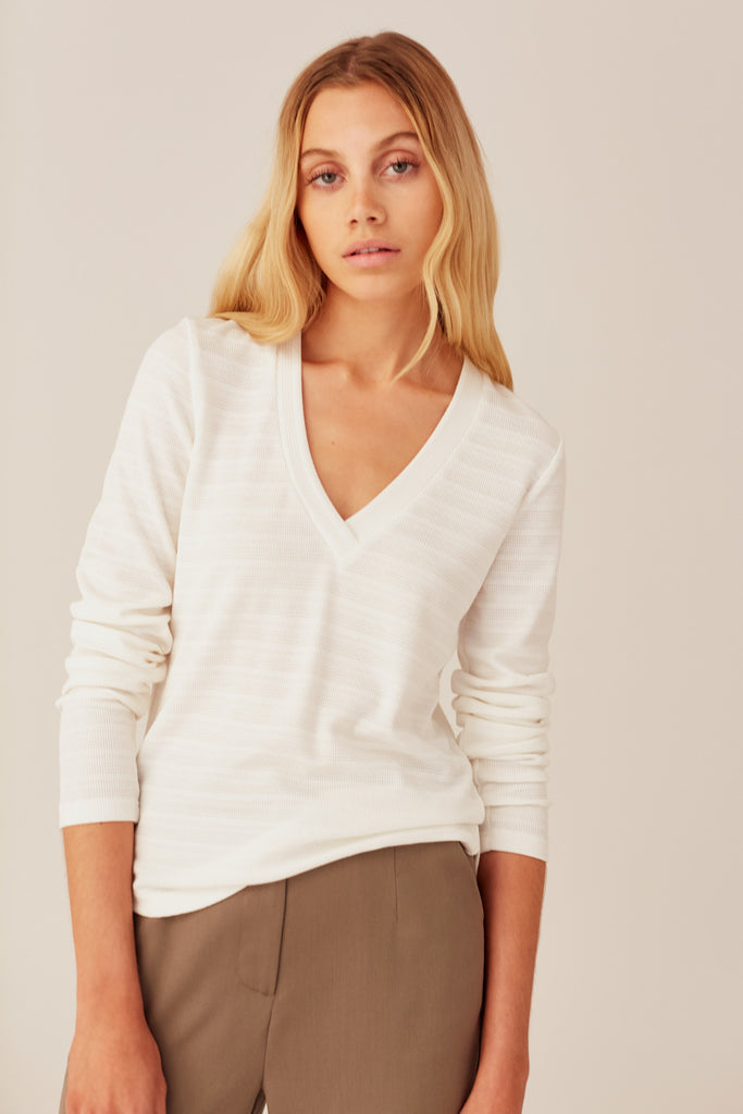 MOMENT LONG SLEEVE TOP white