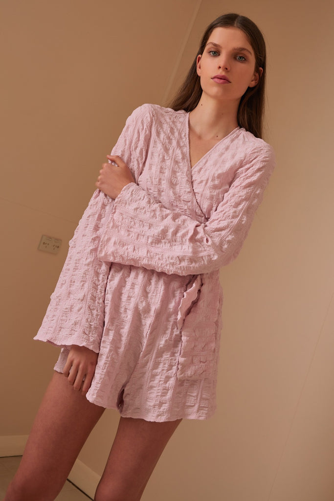 FLORENCE LONG SLEEVE PLAYSUIT light lilac