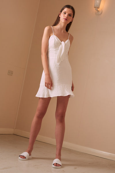 HAZEL DRESS white