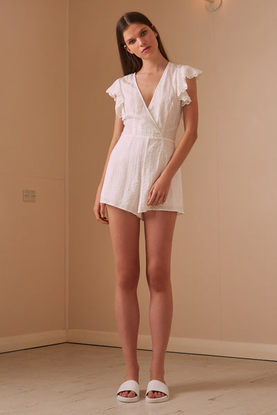HAZEL PLAYSUIT white