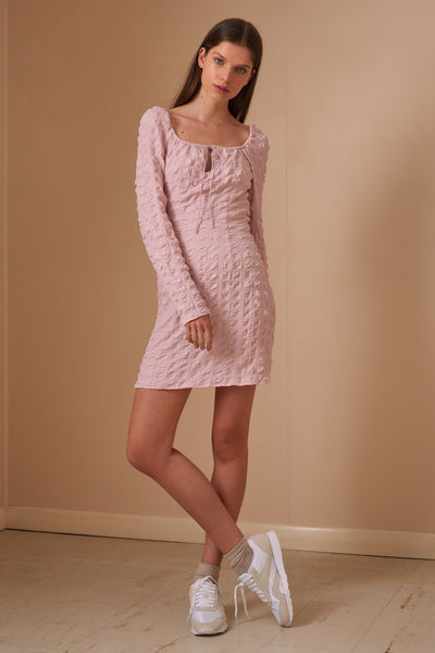 FLORENCE LONG SLEEVE DRESS light lilac