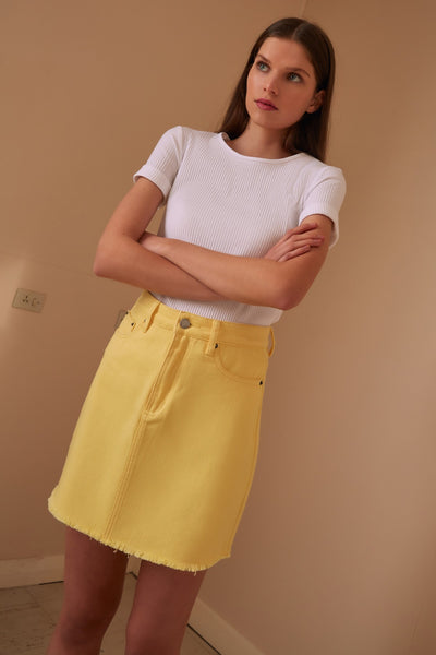 LILLIAN SKIRT lemon
