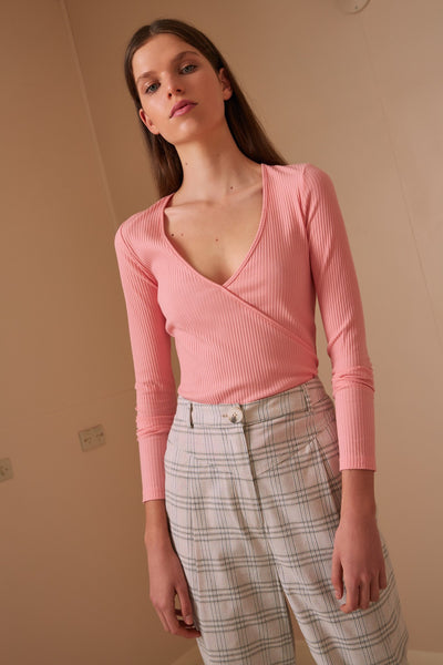 PEONY LONG SLEEVE TOP peach