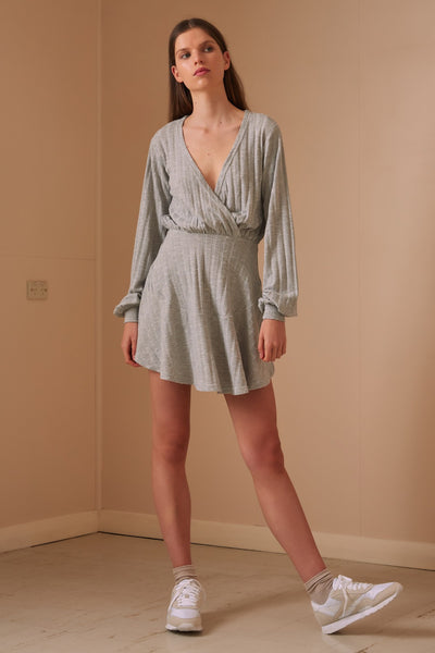 JASMINE LONG SLEEVE DRESS grey marle