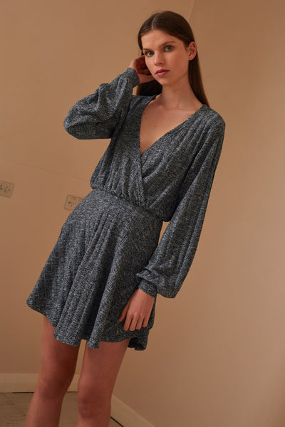 JASMINE LONG SLEEVE DRESS navy marle