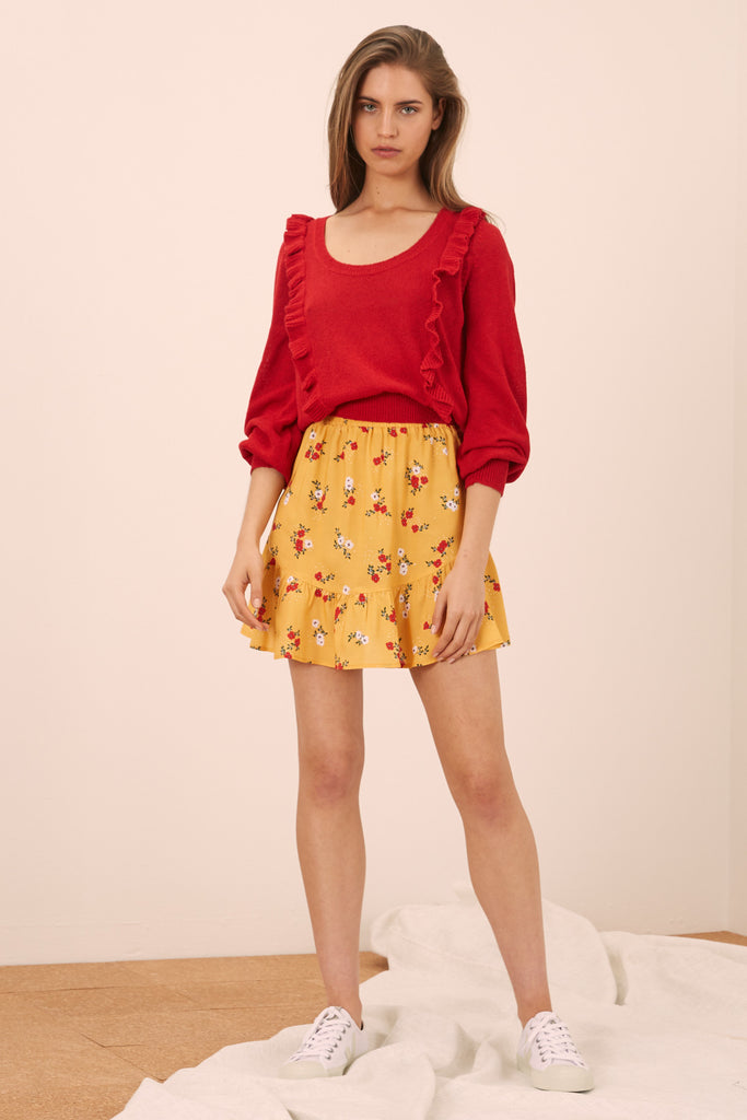 SUNNY SKIRT honey floral