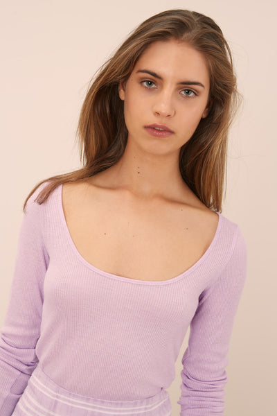 CLARA LONG SLEEVE TOP lilac