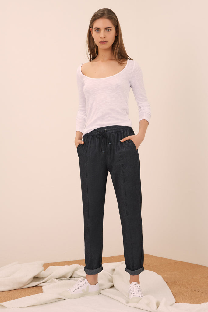 ELSA PANT washed black