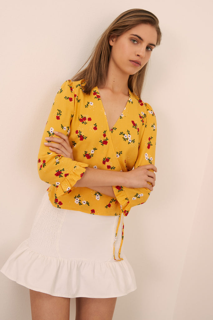 SUNNY LONG SLEEVE TOP honey floral