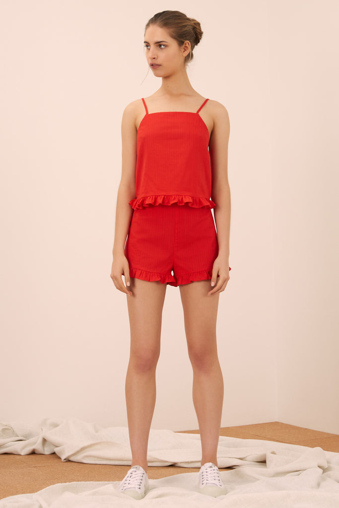 ALLEGRA SHORT red