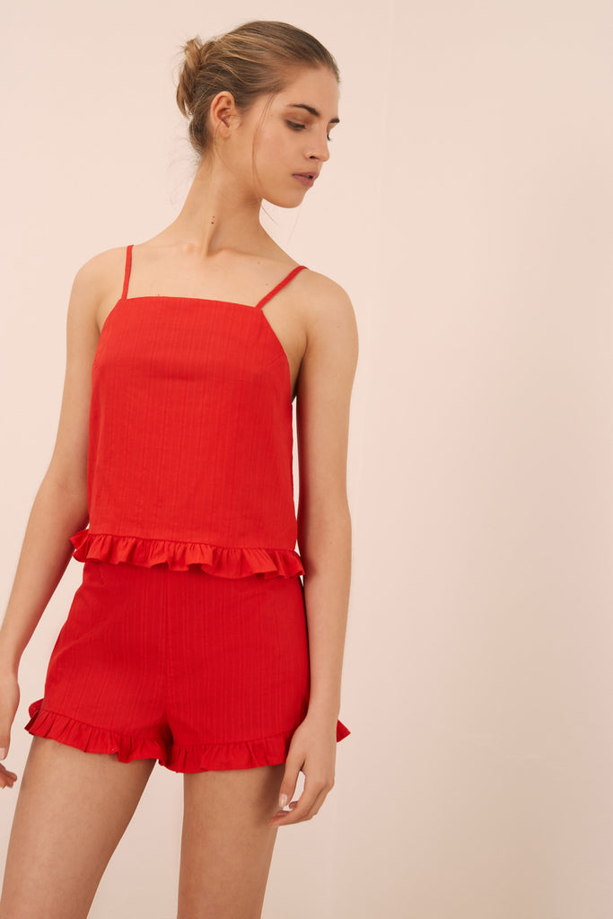 ALLEGRA TOP red