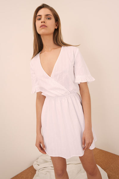 ALLEGRA DRESS white