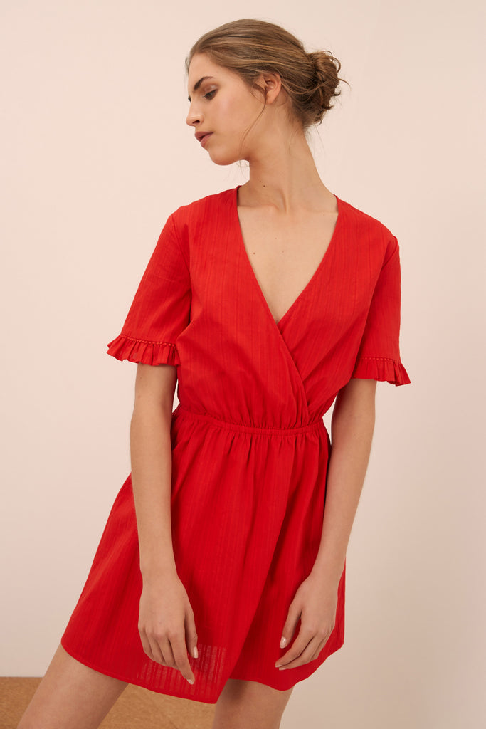 ALLEGRA DRESS red