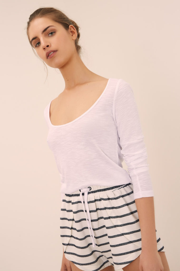 CLARA LONG SLEEVE TOP white