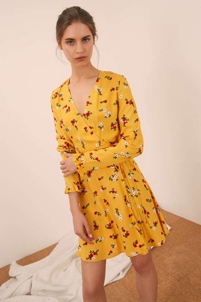 cf7f37ee107b THE FIFTH | SUNNY LONG SLEEVE DRESS honey floral – THE FIFTH LABEL