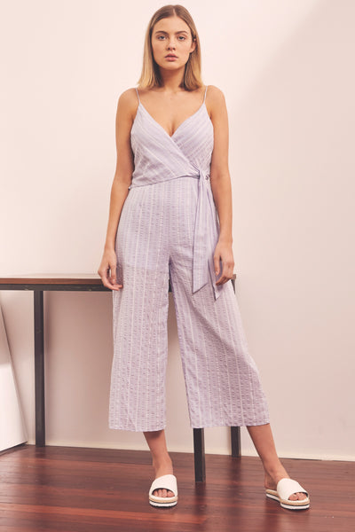 8b50c09669 COAST STRIPE JUMPSUIT lavender w white